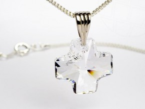 Necklace with Swarovski Elements pendant (Crystal)