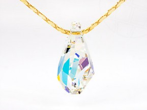 Necklace with Swarovski Elements pendant (Crystal-AB)