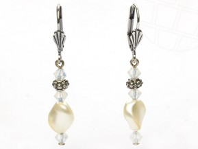 "Ohrhaken ""La ola"" von gogoritas® made with Swarovski Elements (Cream Pearl)"