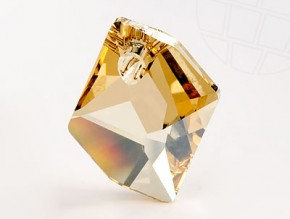 "Pendant of Swarovski Elements ""Cosmic"" 20.0mm (Crystal-Golden Shadow)"