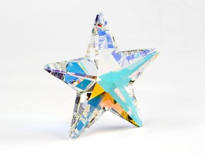 "Pendant of Swarovski Elements ""star""  20mm (Crystal-AB)"