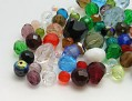 Perles de Verre a enfiler 4mm-10mm (Mix)
