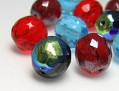 Perles de Verre a enfiler 7 mm (Farben Mix)