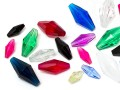 Perles en acrylique en Star Bright | double cône oblong,  9.0 x 35.0mm, Color Multi Size Mix