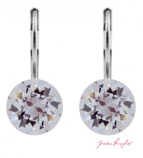 "Pierced Earrings ""Klassik"" Smoky Mauve, with original Swarovski Elements Crystals (9.00mm)"