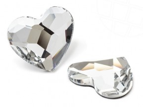 Pietre del Strass No-Hotfix di Swarovski Elements | Cuore |  6.0mm, Crystal