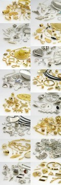 Professional Package Gem parts (gold/silver)