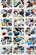 Professional Package Gemstones Multi Size Mix