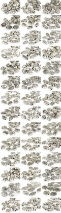 Professional Package Metal Beads 12-25mm (silver Form Mix)