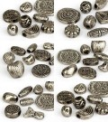 Professional Package Metal Beads 15-25mm (silver Big Form Mix)