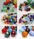 Profi Paket Glasschliffperlen Color Multi Size Mix