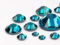 Rhinestones Hotfix of Swarovski Elements  (Blue Zircon Multi Size Mix)