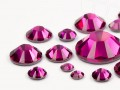 Rhinestones Hotfix of Swarovski Elements  (Fuchsia Multi Size Mix)