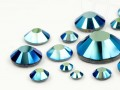 Rhinestones Hotfix of Swarovski Elements  (Jet-AB Multi Size Mix)