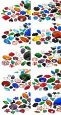Rhinestones to stitch of Star Bright | 6.0 - 40.0mm, Mega Multi Form Mix
