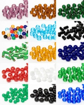 Seed Beads and Spikes | 2mm - 6mm, Multi Size Mix