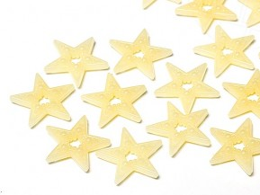 Sew-on Motive in acrylic / plastic of Star Bright | Star, 16.0mm, Cream