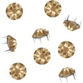Strasspins de Swarovski Elements | Acier affiné | SS34 (7.2mm), Crystal-Golden Shadow