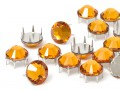 Strasspins of Swarovski Elements | Stainless steel | SS10 (2.8mm), Topaz, REMAINING STOCK