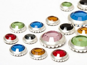Strasssteine Hotfix von Swarovski Elements (Color Multi Size Mix Silberring)