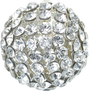 "Swarovski Elements ""Crystal Mesh Ball"" 19mm (Crystal/White) senza anello, SALDO"