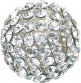 "Swarovski Elements ""Crystal Mesh Ball"" 19mm (Crystal/White) Without ring, REMAINING STOCK"