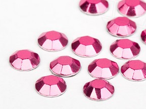 Universal Aluminum Rhinestuds of Unique  6mm (Rosé)